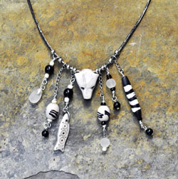 Polar Bear Necklace with Sea Glass