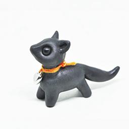 polymer clay fox