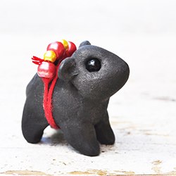 polymer clay wombat