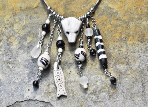 Polymer clay polar bear necklace