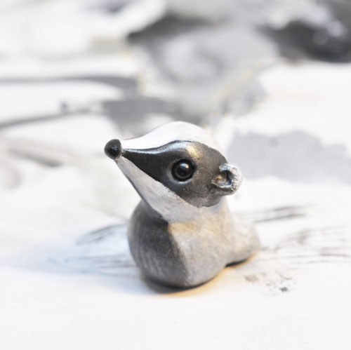 Polymer clay badger