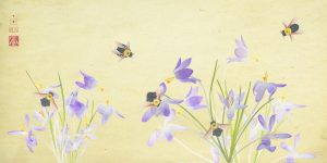 Bees with Crocuses